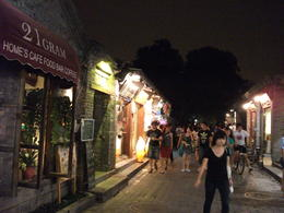 Walking through one of the hutongs lines with shops - September 2012