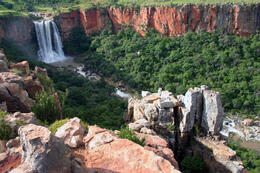 The Elands River Waterfall at Waterval Boven in Mpumalanga, South Africa - May 2011