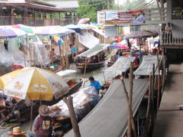 View overlooking the floating markets , marilyn f - July 2011