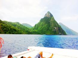 View of the Petit Piton from the bow of the boat. , Ryan P - September 2012
