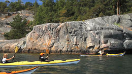 There is nothing like kayaking through the Archipelago in Stockholm! - March 2012