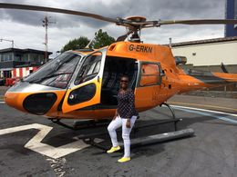 Ms Plaxey ready to tour the London capital from the Sky yeah!!! . , Ms Plaxey - August 2015