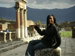The mountains overlooking Pompeii are beautiful., Angela H - May 2008