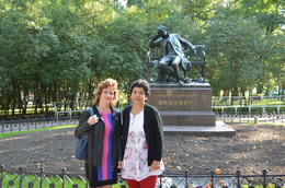 Manju with Lisa, our tour guide , Lt Col S K B - October 2013