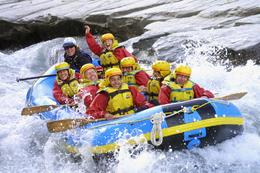 Rafting on the Shotover River - May 2010
