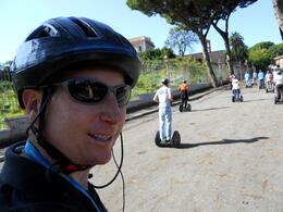 It not recommended to take a picture of yourself while driving a Segway through Rome. Keep your eyes on the road. Segway tour was a blast - highly recommend!, Houston H - November 2009