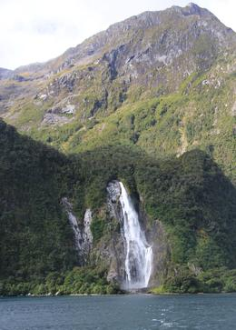 Waterfall on the Milford fjord. , Neil M - April 2014