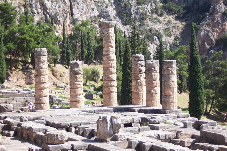 Temple of Apollo ~ Athenian Treasury ~ Temple of Athena ~ Theatre of Delphi (72) - Athens