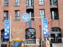 Me in front of the Beatles Story entrance! , Shirley P - June 2013