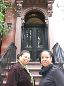 My BFF and I on the tour in front of the Cosby home. Who knew it was so small. , DJ - June 2011