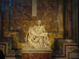 One of the highlights of the excursion was the Pieta by Michelangelo in the Basilica of St Peters. , Vangelis E - August 2013