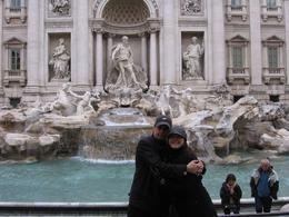 Adam and Kylie enjoying the long awaited Trevi Fountain., Kylie R - May 2009