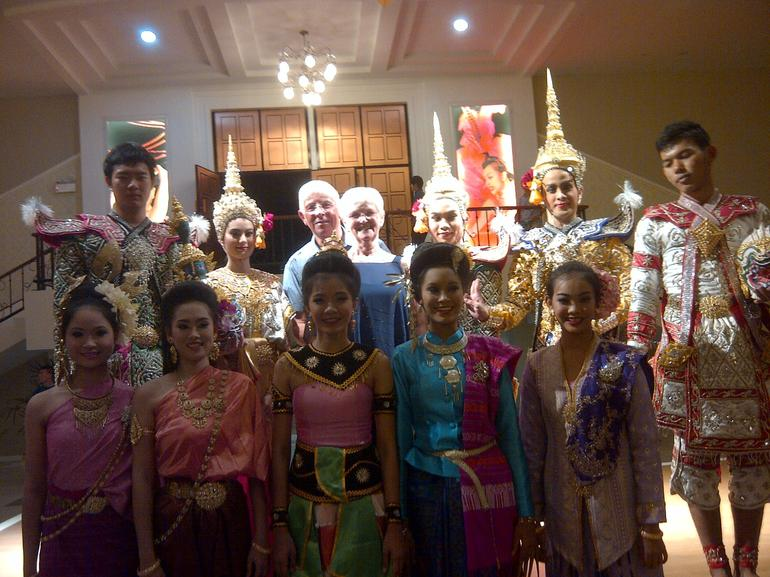 Us with Thai dancers before show - Bangkok