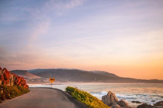 A seaside road in Carmel