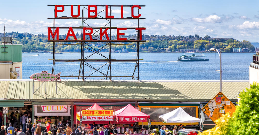 Image result for Pike Place Market in Seattle