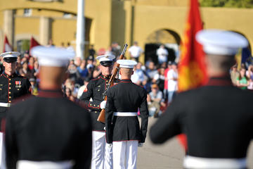 US Marine Corps Sunset Parade