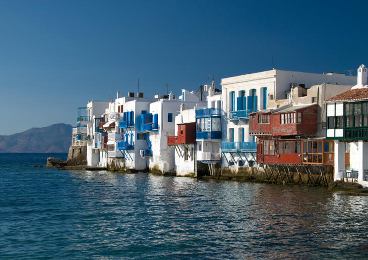 9edc7c9f977 Situated in Chora Mykonos (aka Mykonos Town), the waterfront quarter of  Little Venice is one of the island's top sunset-viewing spots.