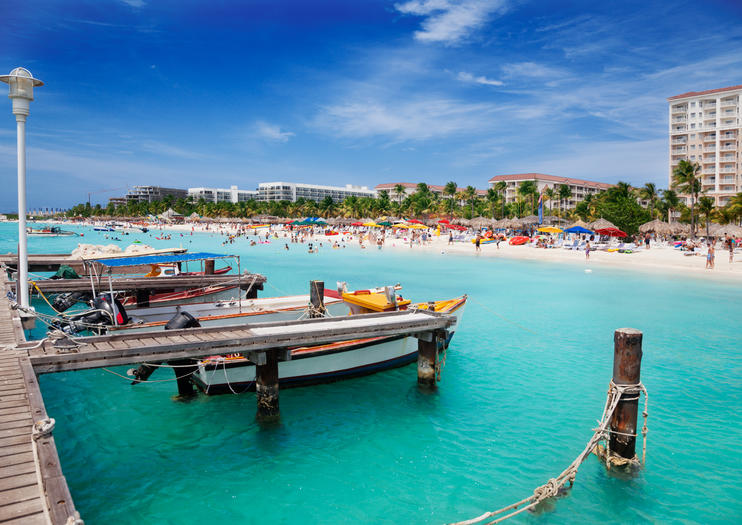 Aruba S Palm Beach Hosts Many Of The Caribbean Island Luxe High Rise Hotels Which Is No Surprise As These Lovely Two Miles 3 2 Kilometers Sand Are