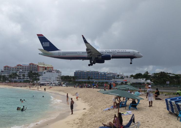 Find Saint Martin S Main Airport On A Map And You Ve Found Maho Beach How Close Is It Ask Well If Ever Seen Photo Of Sunbathing Tourists