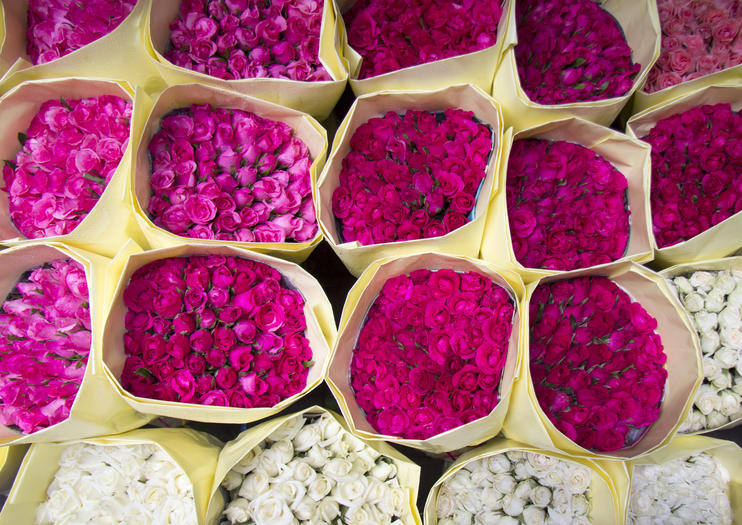 Le marché aux fleurs Pak Khlong Talat