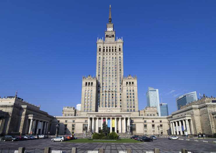 The Palace Of Culture And Science Is Tallest Building In Poland Completed 1955 As A Gift To From Soviet People Joseph Stalin Himself