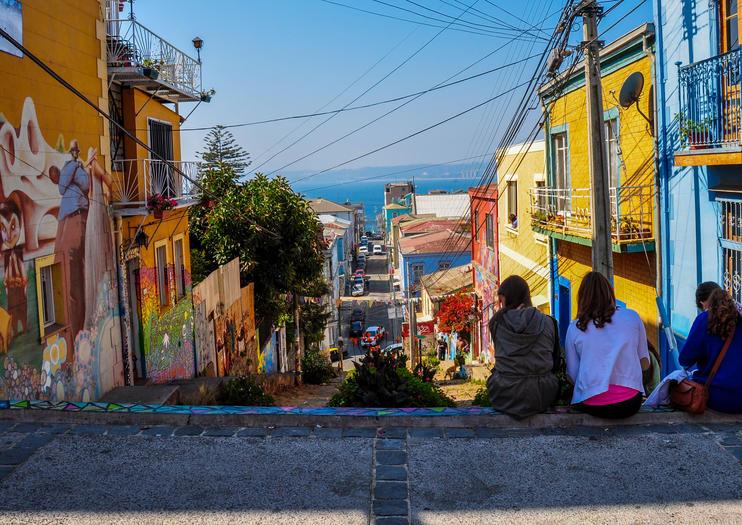 Historisches Viertel der Hafenstadt Valparaíso