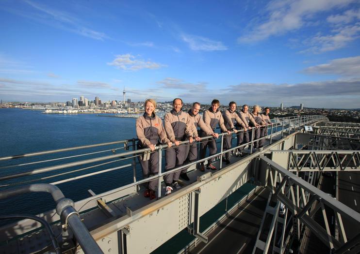 Escalada al Puente del Puerto de Auckland