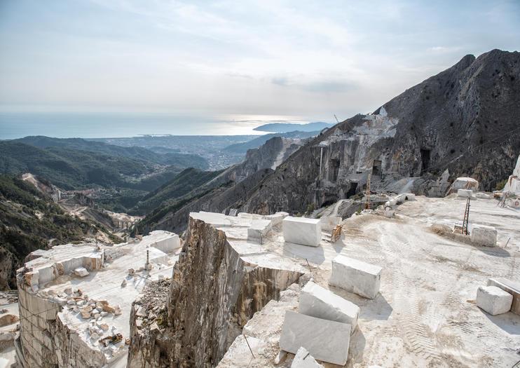 Carrara Marmorsteinbruch
