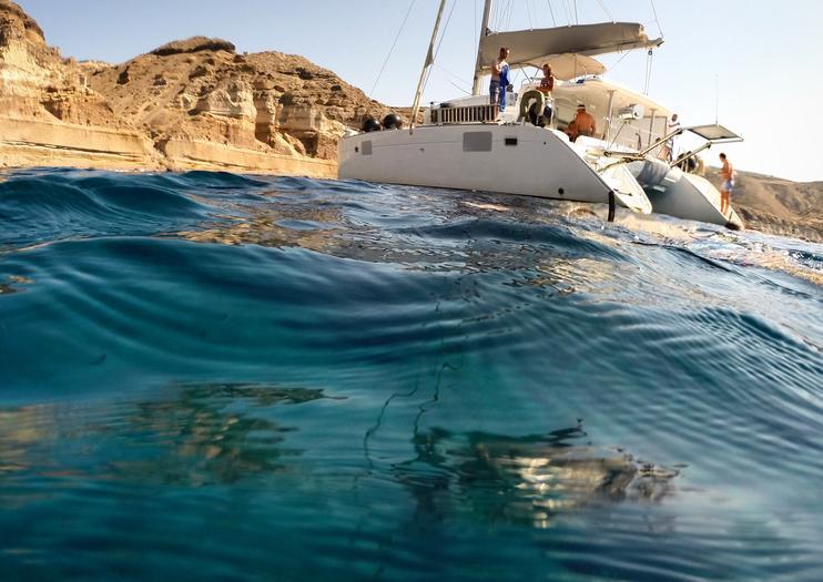 Sailing in Santorini