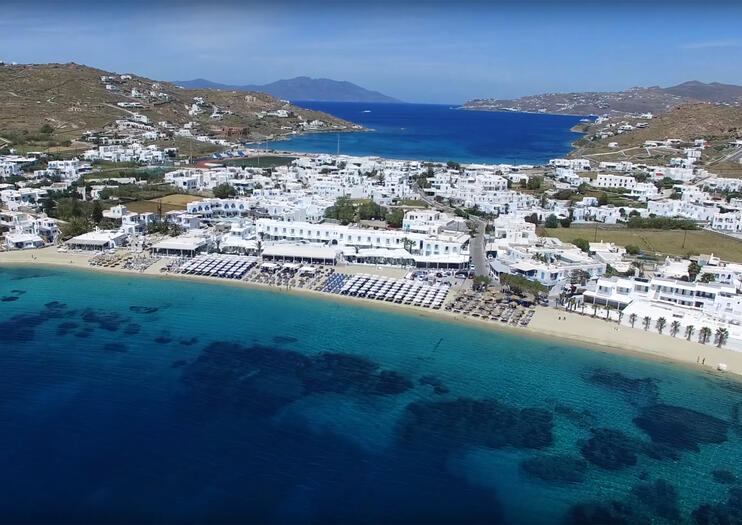 The Soft Sandy Beach At Ornos Is Found On Southwest Coast Of Mykonos D Around A Sheltered Bay With Clear Calm And Shallow Water That Safe For