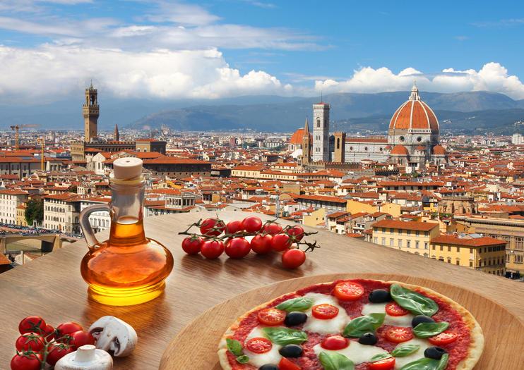 Essen und Wein in Florenz