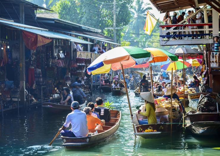 Mercado flutuante Damnoen Saduak