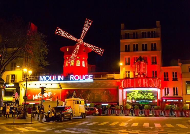 Eiffelturm und Moulin Rouge