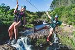 Umauma Falls Zipline and Swim 9-Line Zip-N-Dip Experience