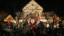 Weihnachtsbeleuchtung in Dyker Heights Brooklyn, New York City, Weihnachten