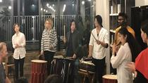 Japanese taiko drum performance and trial at WeBase Hakata Community Hostel, Fukuoka, Craft Classes