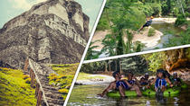 Xunantunich, Cave Tubing and Zipline tour from Belize City, Belize City, Tubing