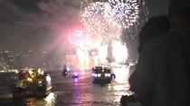NYC July 4th Macy's Fireworks Family Friendly Festive Boat with Bar light food, New York City,...