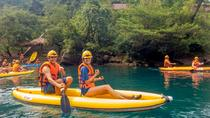 GROUP TOUR: DISCOVER DARK CAVE - KAYAK AND ZIPLINE TOUR FROM HUE, Hue, Ziplines