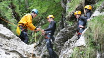 Canyoning in the Fratarica Canyon of the Soca valley, Bovec, Ziplines