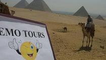 Cairo airport transit Tours Visit Giza Pyramids Egyptian Museum Bazaar & Nile Dinner Cruise, Giza,...