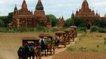 At a glance of Bagan with horse cart and sunset on cruise, Bagan, Day Cruises
