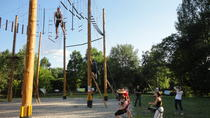 Half-Day Low-Ropes and High-Rope Challenge Course in Prague, Prague, Climbing
