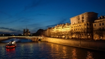 Seine River Dinner Cruise with 'La Marina de Paris' and Moulin Rouge Show, Paris, Night Tours