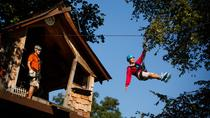 Waterfall Canopy Zip Line Tour Plus Park Activity Pass at Foxfire Mountain Park, Pigeon Forge
