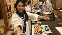 Kuromon market and Dotonbori area Walking tour with Sushi Making Experience, Osaka, Cooking Classes