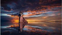 Seasonal Tour: Sunrise  with reflections in the water, Uyuni Salt Flats, Uyuni