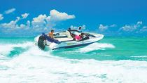 Speedboat Excursion to Grand River South East Waterfall and Ile Aux Cerfs from Trou D'eau Douce,...