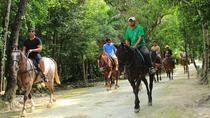 Horseback Riding Tour in the Tropical Jungle from Cancun, Cancun, Horseback Riding
