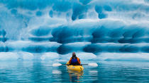 Full-Day Bear Glacier Kayaking Jetboat and Helicopter from Seward, Seward, Day Cruises